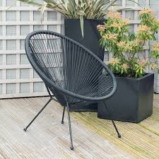 Rio Blue Garden Scoop String Chair