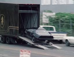100 Knight Rider Truck KITT Driving Into The FLAG Mobil Repair Unit From