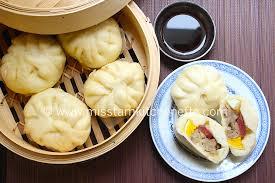 cuisine asiatique vapeur banh bao brioche à la vapeur farcie au porc et aux chignons