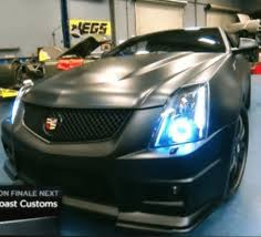 2010 2012 cadillac cts v coupe led headlight halo kit by oracle