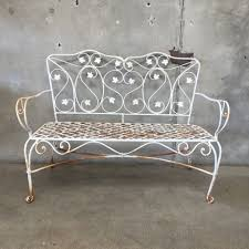 Vintage Wrought Iron Porch Furniture by Vintage Wrought Iron Garden Bench U2013 Urbanamericana