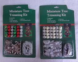 2 Of 4 CHRISTMAS MINIATURE TREE TRIMMING KIT Mint In Packages