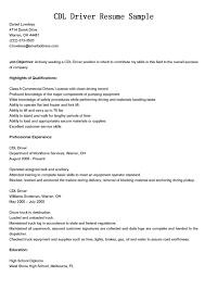 Cdl Truck Driver Resume Sample 7