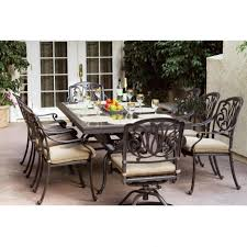 7 Piece Patio Dining Set Walmart by 8 Person Outdoor Dining Table Essential Garden Eastbrook 8 Person