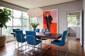 Image Of Contemporary Dining Room Chairs Blue