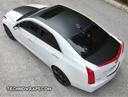 Cadillac ATS with Satin Black wrap accents Custom vinyl wr…