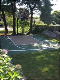 Backyards: Cozy Backyard Basketball Court Dimensions. Outside ... Multisport Backyard Court System Synlawn Photo Gallery Basketball Surfaces Las Vegas Nv Bench At Base Of Court Outside Transformation In The Name Sketball How To Make A Diy Triyaecom Asphalt In Various Design Home Southern California Dimeions Design And Ideas House Bar And Grill College Park Half With Hill