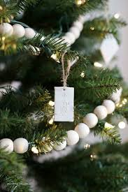 Essentials Christmas Tree Garland Styling Up Your Minimal Clay Ornaments Garlands And