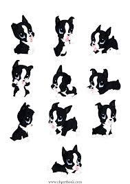 Boston Terrier Pumpkin Pattern by Terrier Clipart 52