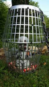 Halloween Graveyard Fence Ideas by Tarp Or Heavy Fabric Broom Stick Or Fence Post Styrofoam Head