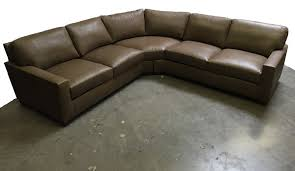 Bradington Young Leather Sectional Sofa by American Heritage Custom Arm Series Brochure