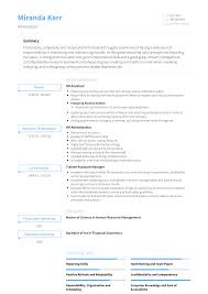 Hr - Resume Samples & Templates | VisualCV