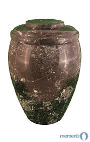black zebra marmor urne rund mementi urnen