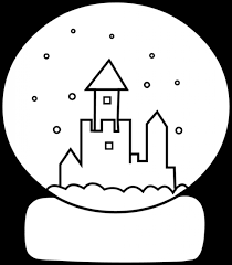 Cute Snow Globe Coloring Page