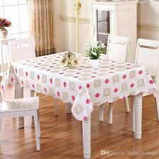 Dining Table Cover Plastic Tablecloth Waterproof Anti Oil And Tea