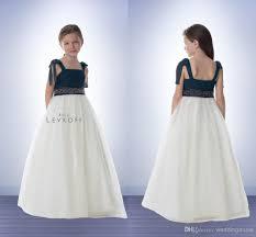 chiffon junior bridesmaid dresses navy blue white square neck