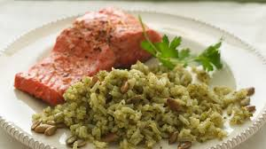 Toasting Pumpkin Seeds In Microwave by Green Rice With Toasted Pumpkin Seeds Recipe Bettycrocker Com