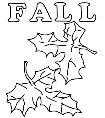 Printable Colored Autumn Leaves Fall Coloring Pages Print Big Large
