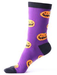 Halloween Date 2014 Nz by Halloween Pumpkins Tube Socks Purple In Hosiery Dresslily Com