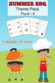 Summer BBQ Theme Pack Worksheets For Pr K To Kindergarten