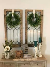 Use These As Shutters Beside My Mirrored Window I Love It Kitchen Wall Decor RusticPorch