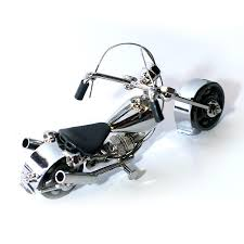 Harley Davidson Motorcycle Model Metal Sculpture