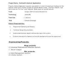 Resume For 1 Year Experienced Software Engineer Android Oper With Experience Sample And