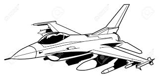 Drawn aircraft black and white 4