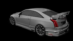 Cadillac ATS V Coupe 2016 Custom 3D model