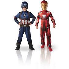2 Déguisements Iron Man Et Captain America Taille L La Grande Tout