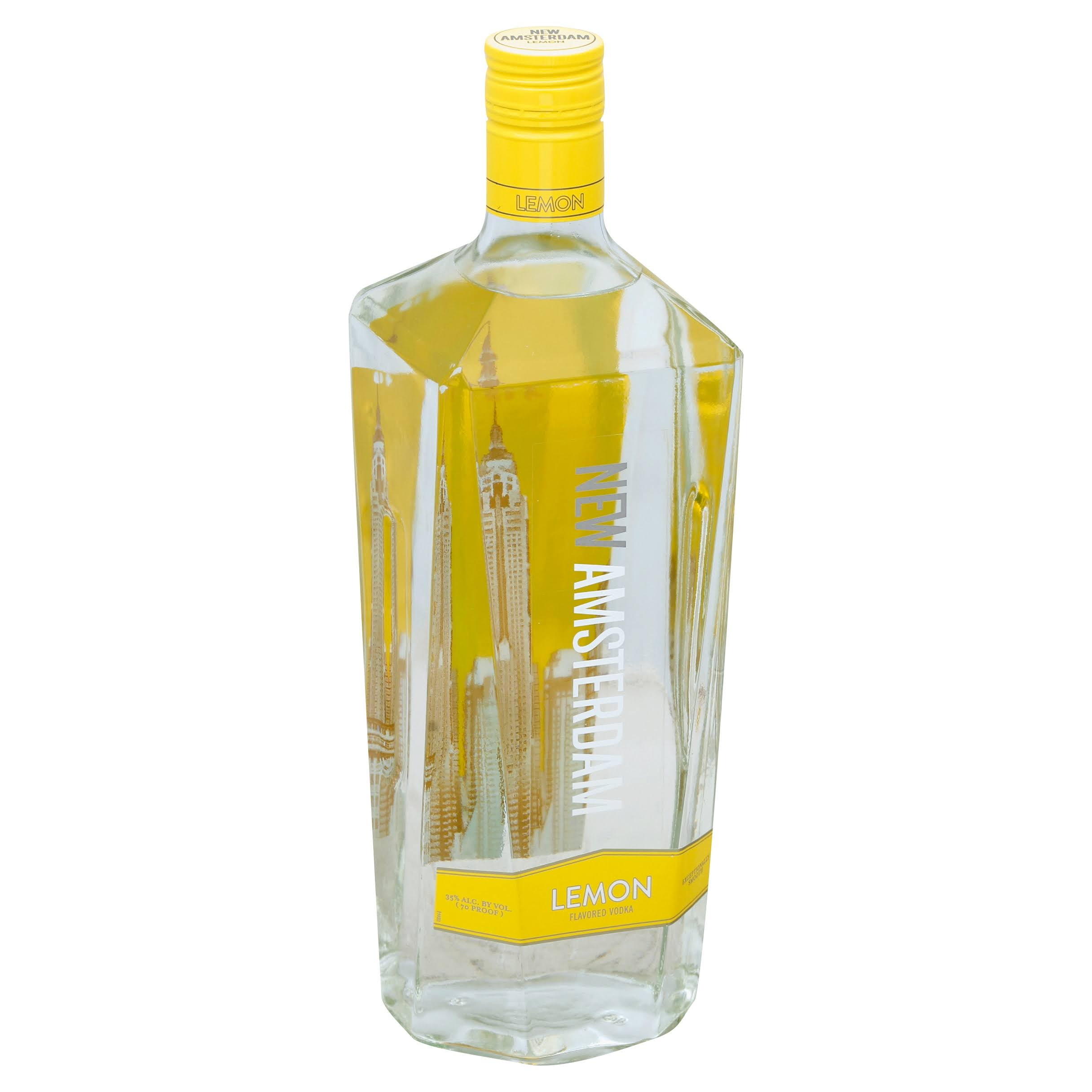 New Amsterdam Vodka, Lemon Flavored - 1.75 l