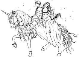 PrinceAndPrincessOnHorsePrintableColoringPages In Horse Printable Coloring Pages