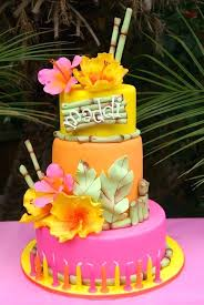 Hawaiian Birthday Cake Toppers Pool Party Luau Or Tropical Idea