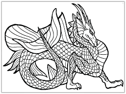 Coloring Pages Chinese New Year Dragon Page