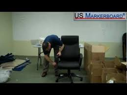 how to assemble the high back double layer executive chair from