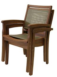 Stackable Outdoor Sling Chairs by Sling U0026 Eucalyptus Stackable Arm Chair Light Brown Sling