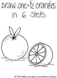 Learn To Draw 1 2 An Orange In 6 Steps