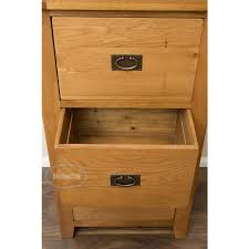 Vancoouver Rustic Oak 3 Drawer Filing Cabinet