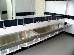 Trough Sink With Two Faucets by Bathroom Trough Sink Bathroom 32 Single Sink With Two Faucets