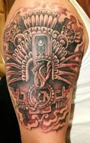 30 Aztec Inspired Tattoo Designs For Men