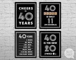 40th Birthday Decorations Canada by 40th Birthday Party Etsy