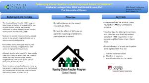 Do Housing Choice Vouchers Lead to Improved School Participation