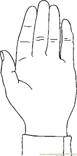 Coloring Page Hand 14 Image Of A To Color