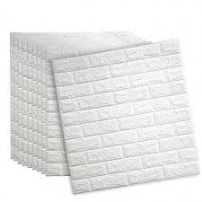 weiße ziegel 3d wand panels schälen und stick tapete für wohnzimmer schlafzimmer hintergrund wand dekoration