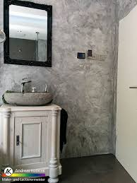 fugenloses badezimmer spachteltechniken wandgestaltung