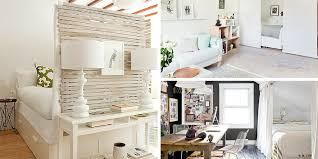 Wall Dividers Studio Apartment Ideas Pallet White Kitchen Table Dining Room Divider Separate Stools Acrylic