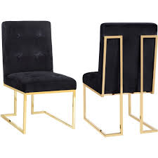 TOV TOV-D2052 Akiko Black Velvet Dining Chair On Gold Stainless Legs ... Vig Fniture Modrest Kingsley Modern Black Rose Gold Ding Chair Of America Duarte Iii Crocodile Textured Zuo Elio Set 2 Antique Sets Glass Tops Bases Chairs Frame Pedestal Vintage European And Round Table Beautiful Leopard Print 6 Room Wooden Best Of 25 With Legs Ideas Design 100 Transformed Reality Daydream Meridian Karina The Classy Home Inspirational 50 And Dcor Inspiration For New Years Eve Nage Designs Patings On Blue Wall Gold Clock In Modern Ding Room