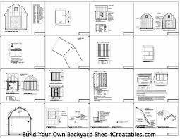 8 X 10 Gambrel Shed Plans by Yourplans Pdfshedplans Page 162