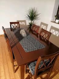 echtholz kolonialstil esszimmer möbelset tisch und 6 stühle