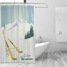 coosun dusche berge und ski ausrüstung schnee vorhang